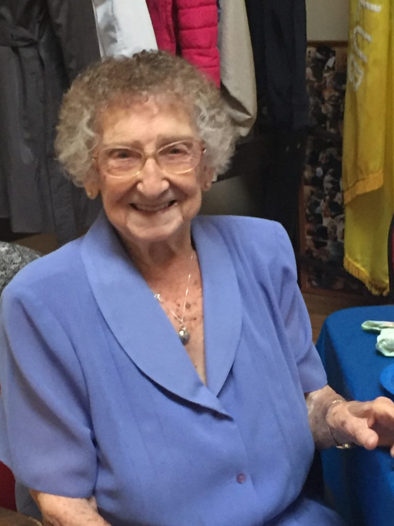 Ruth  Swanson's 100 Birthday, May 27, 2018, Dover, New Jersey Ruth is Elaine's relative on her mother's side of the family.